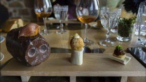 tres texturas, formas y sensaciones. un plato sorprendente de Carlos Gallego del Restaurante Los Llaureles.